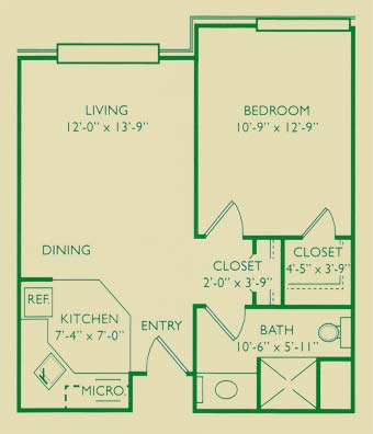 Mockingbird One-Bedroom Apartment